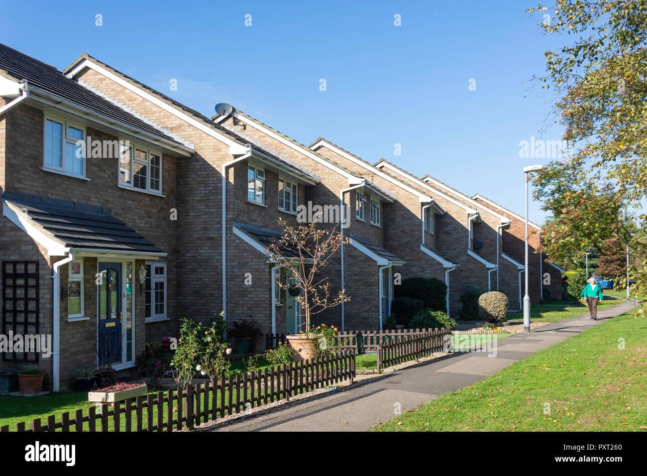 Terraced houses, Knox Green, Binfield, Berkshire, England, United Kingdom - Stock Image