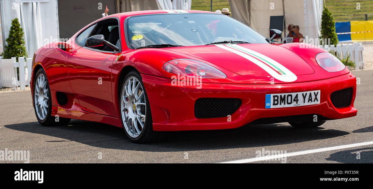 Red Ferrari 360 Challenge Stradale Super Car Stock Photo Alamy