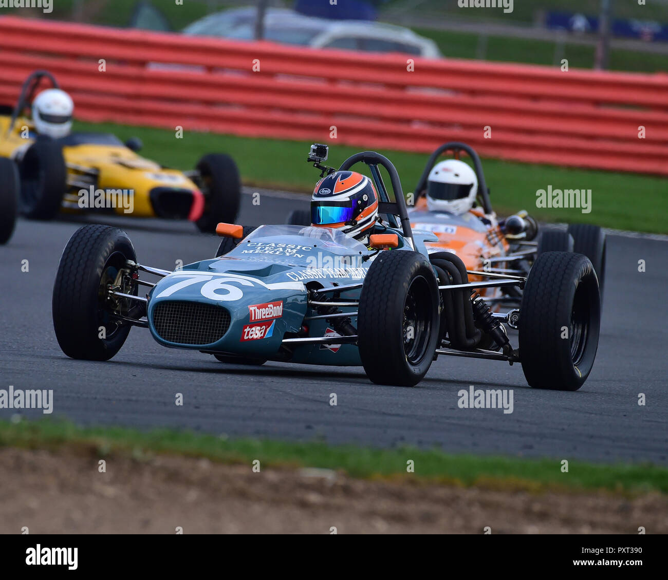 Pierre Livingston, Merlyn Mk20A, Historic Formula Ford, HFF, HSCC, Silverstone Finals, Silverstone, October 2018, cars, Classic Racing Cars, Historic  - Stock Image
