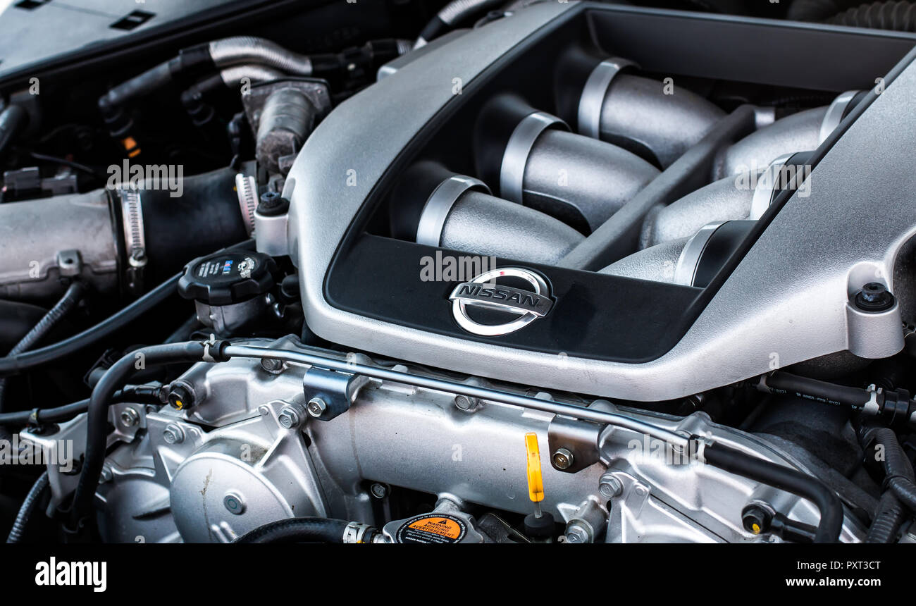Nissan Gt R Stock Photos Images Alamy Motor R35 V6 Twin Turbo Engine Image