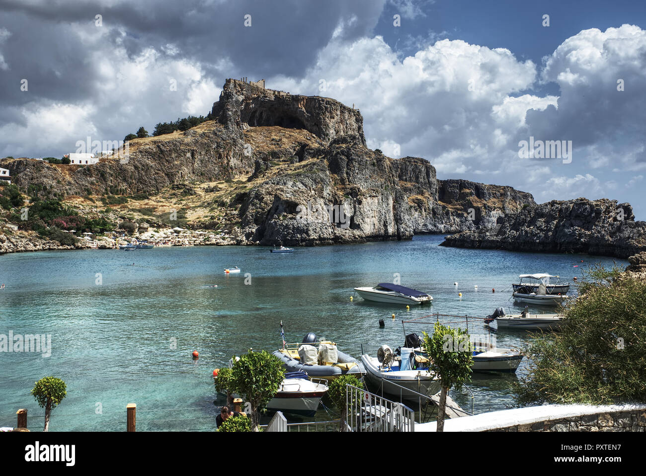 Saint Paul's Bay, Rhodos, Griechenland - Stock Image