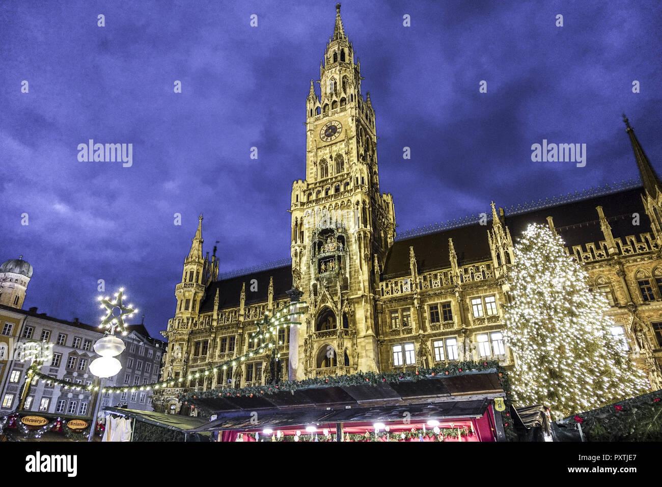 Weihnachtsmarkt H.Christkindlmarkt Weihnachtsmarkt Am Münchner Marienplatz Christmas