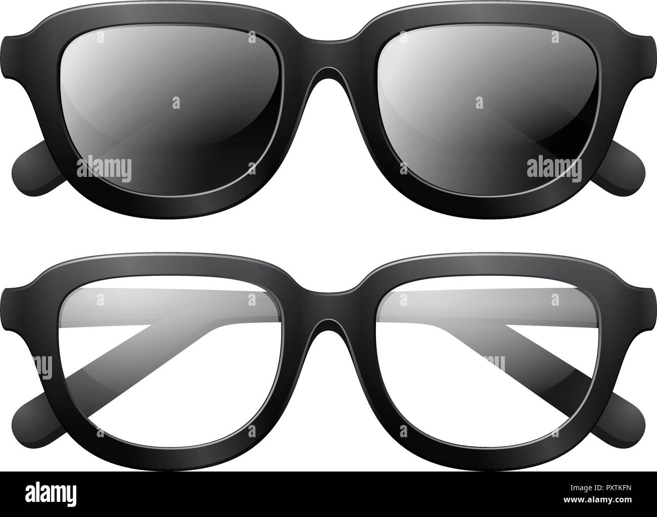 fbbc443a4e Eyeglasses and sunglasses with black frames illustration stock jpg  1300x1023 Glasses frames vector