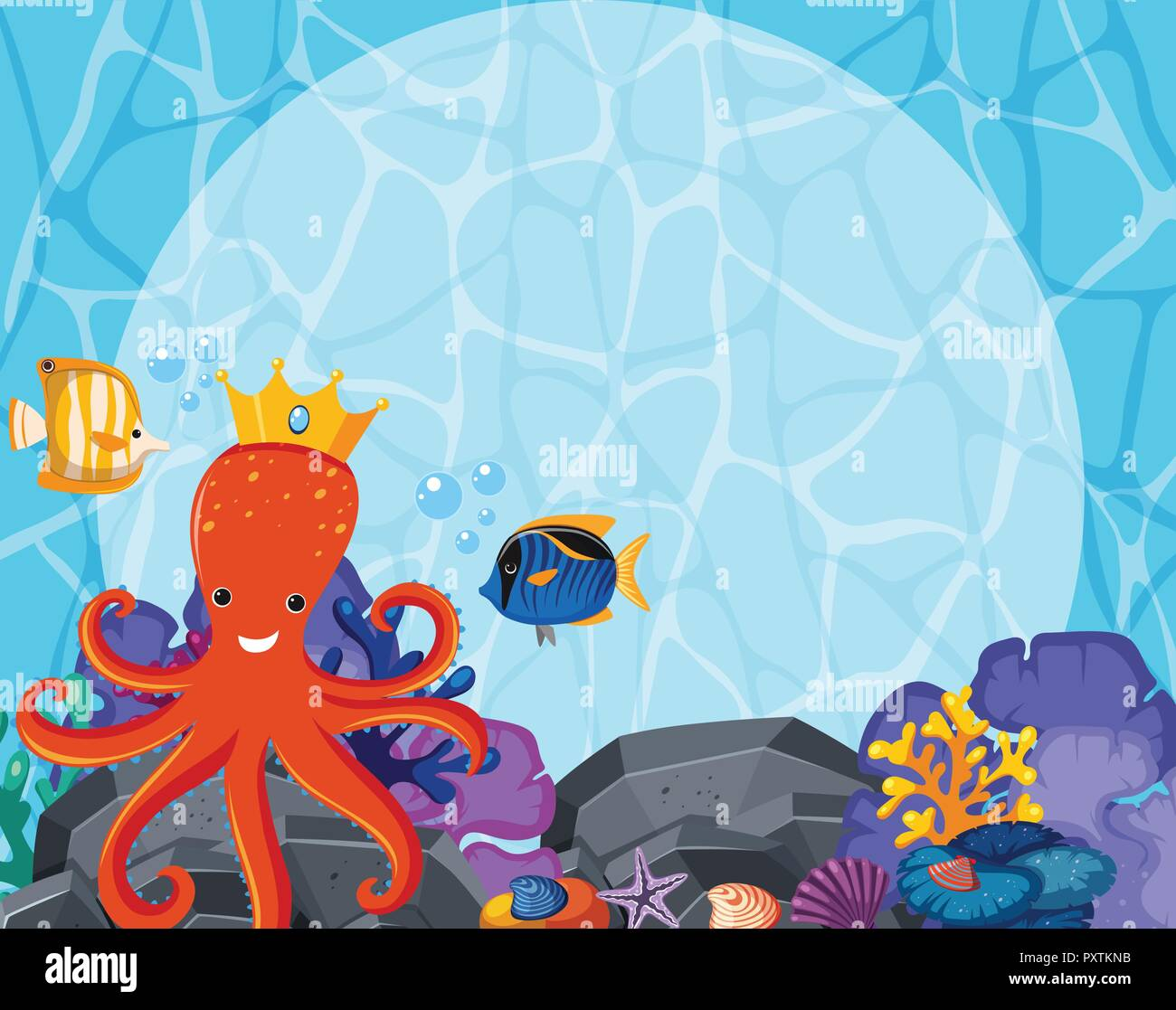 8x12 FT Octopus Vinyl Photography Background Backdrops,Art Pattern with Octopus Jellyfish Marine Plants and Seaweed Background for Graduation Prom Dance Decor Photo Booth Studio Prop Banner