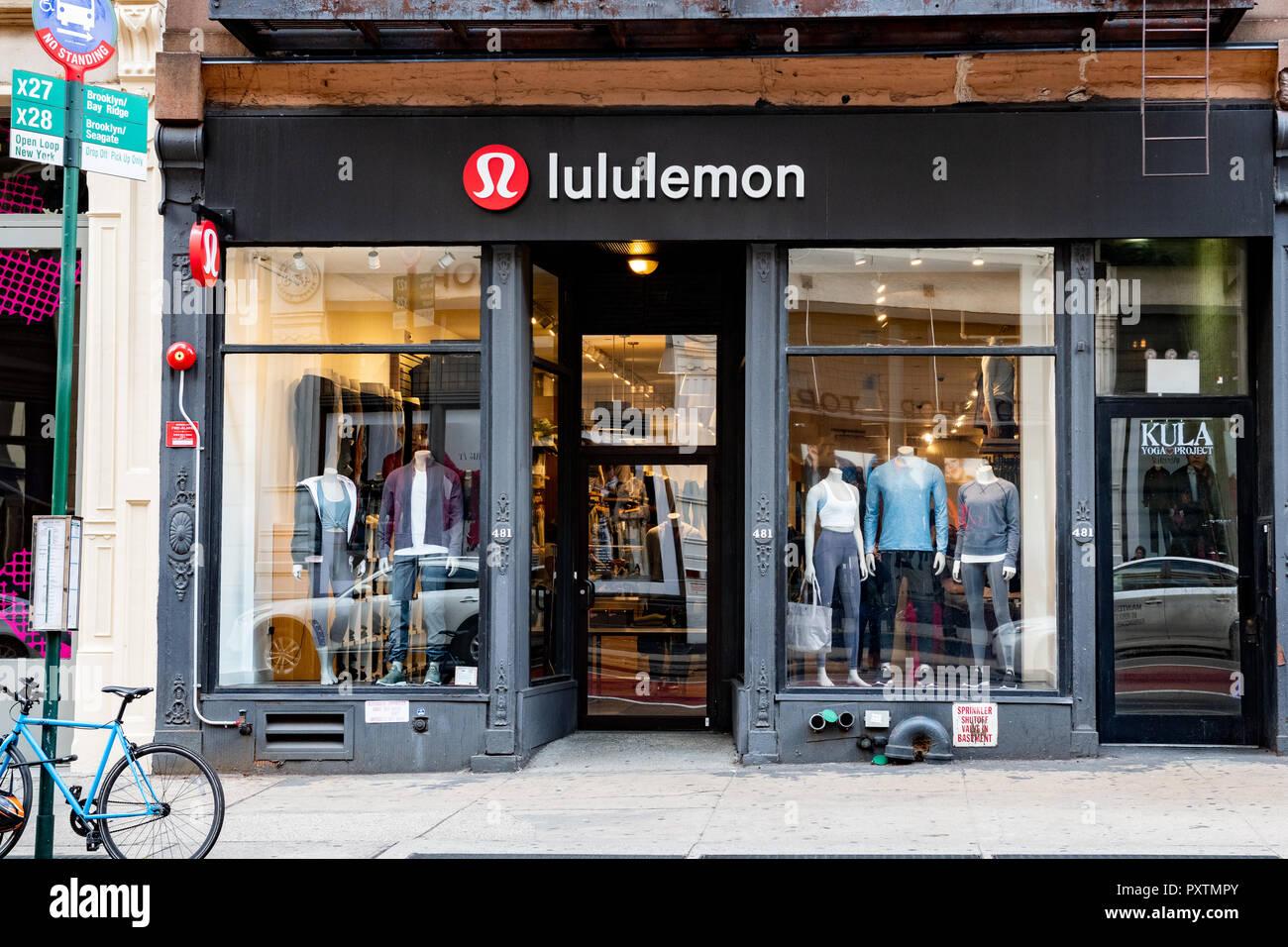 e752e78f75 Lululemon store in the SoHo neighbourhood of New York City. - Stock Image