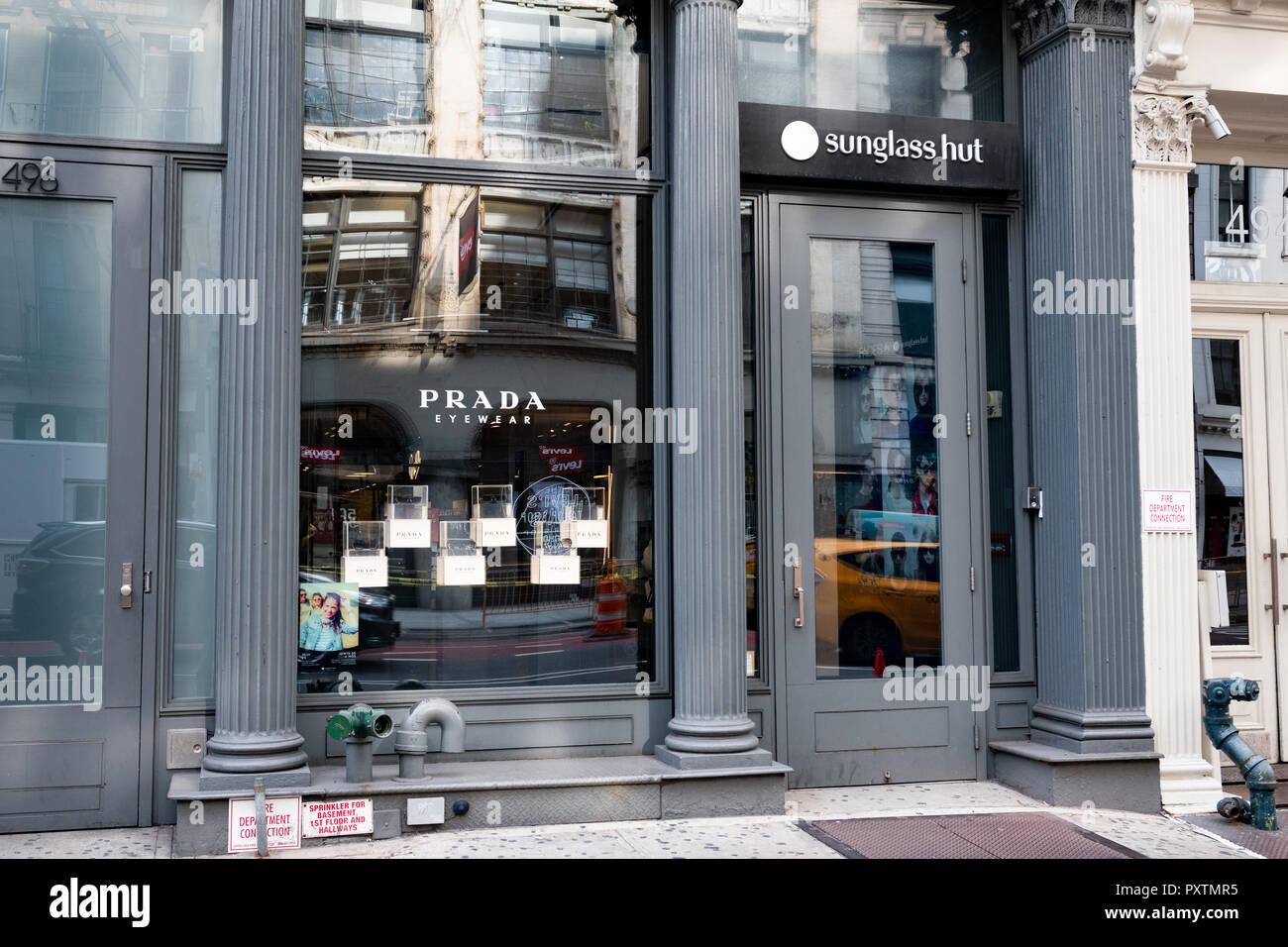 Sunglass Hut store in the SoHo neighbourhood of New York City Stock ... adf0803e0d56