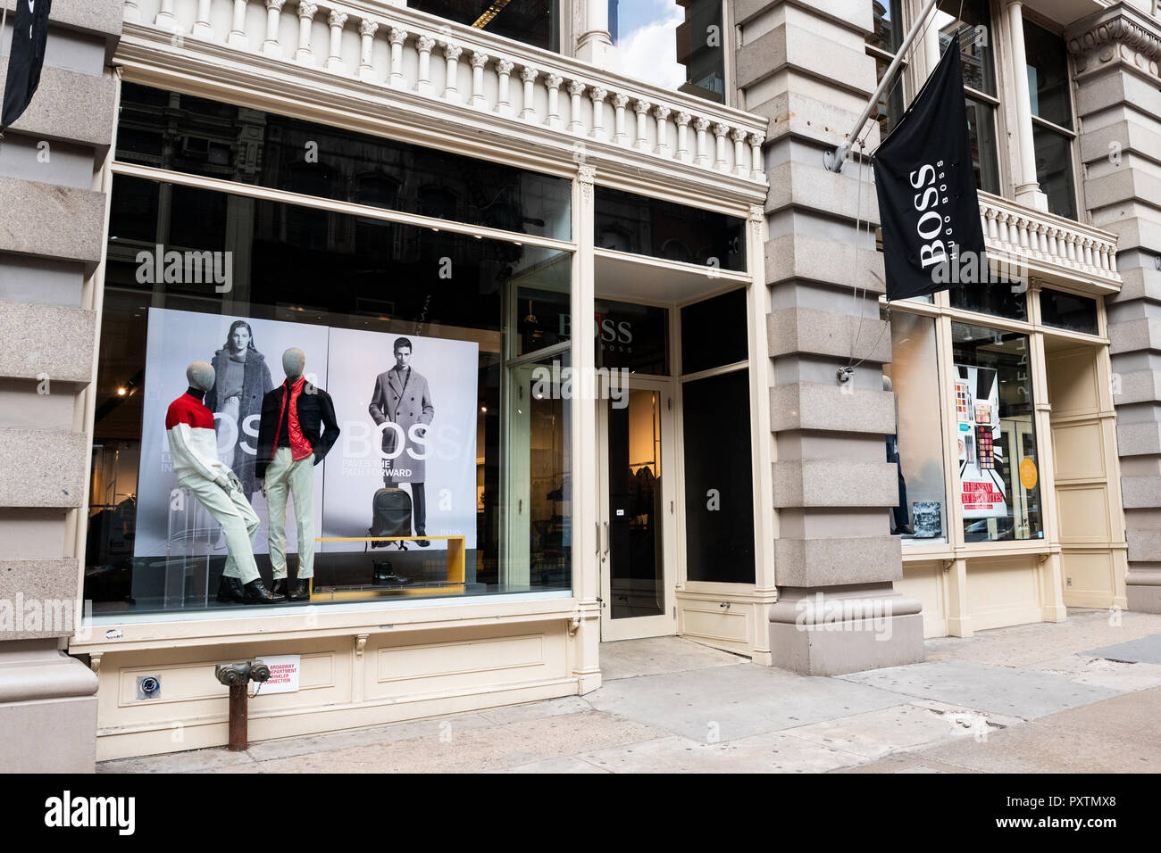 2f4da2f4627 Hugo Boss store in the SoHo neighbourhood of New York City Stock ...