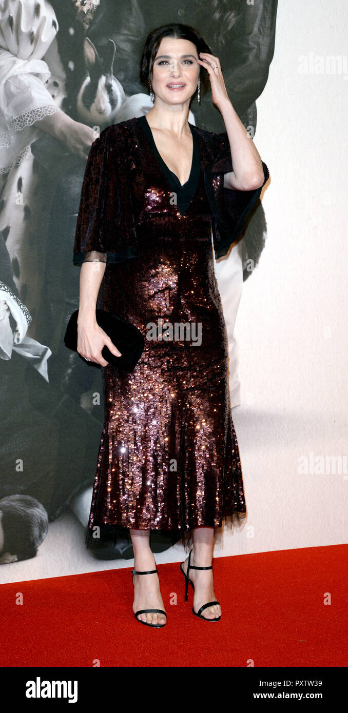 Photo Must Be Credited ©Alpha Press 078237 18/10/2018 Rachel Weisz The Favourite Gala Screening during 62nd BFI LFF London Film Festival 2018 in London - Stock Image