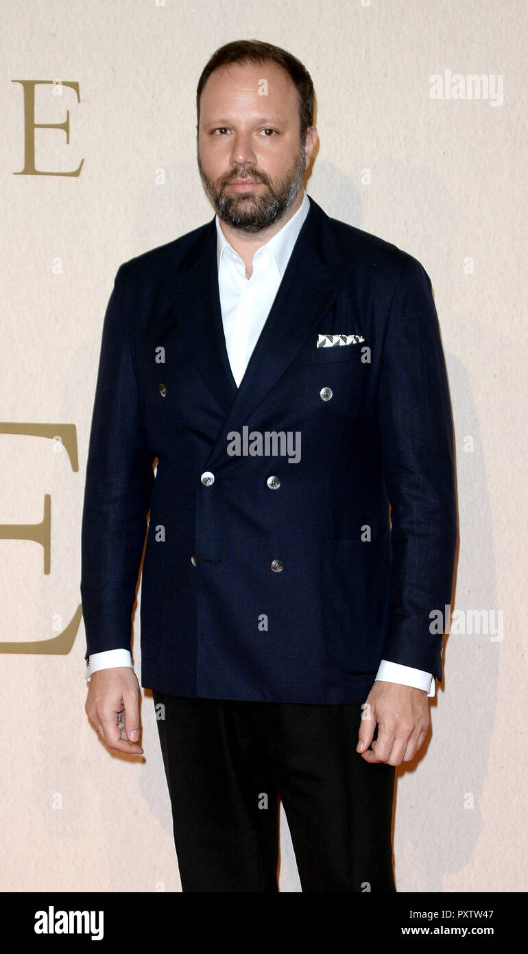 Photo Must Be Credited ©Alpha Press 078237 18/10/2018 Yorgos Lanthimos The Favourite Gala Screening during 62nd BFI LFF London Film Festival 2018 in London - Stock Image