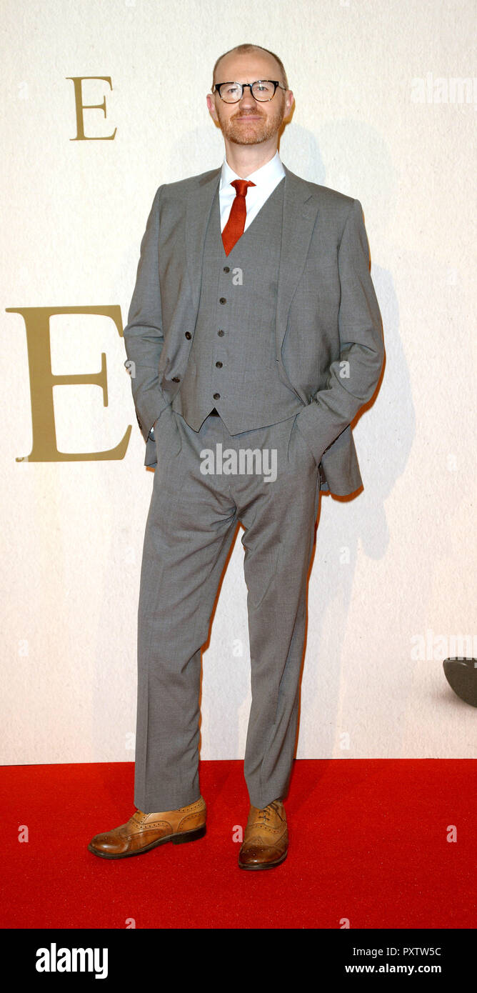 Photo Must Be Credited ©Alpha Press 078237 18/10/2018 Mark Gatiss The Favourite Gala Screening during 62nd BFI LFF London Film Festival 2018 in London - Stock Image