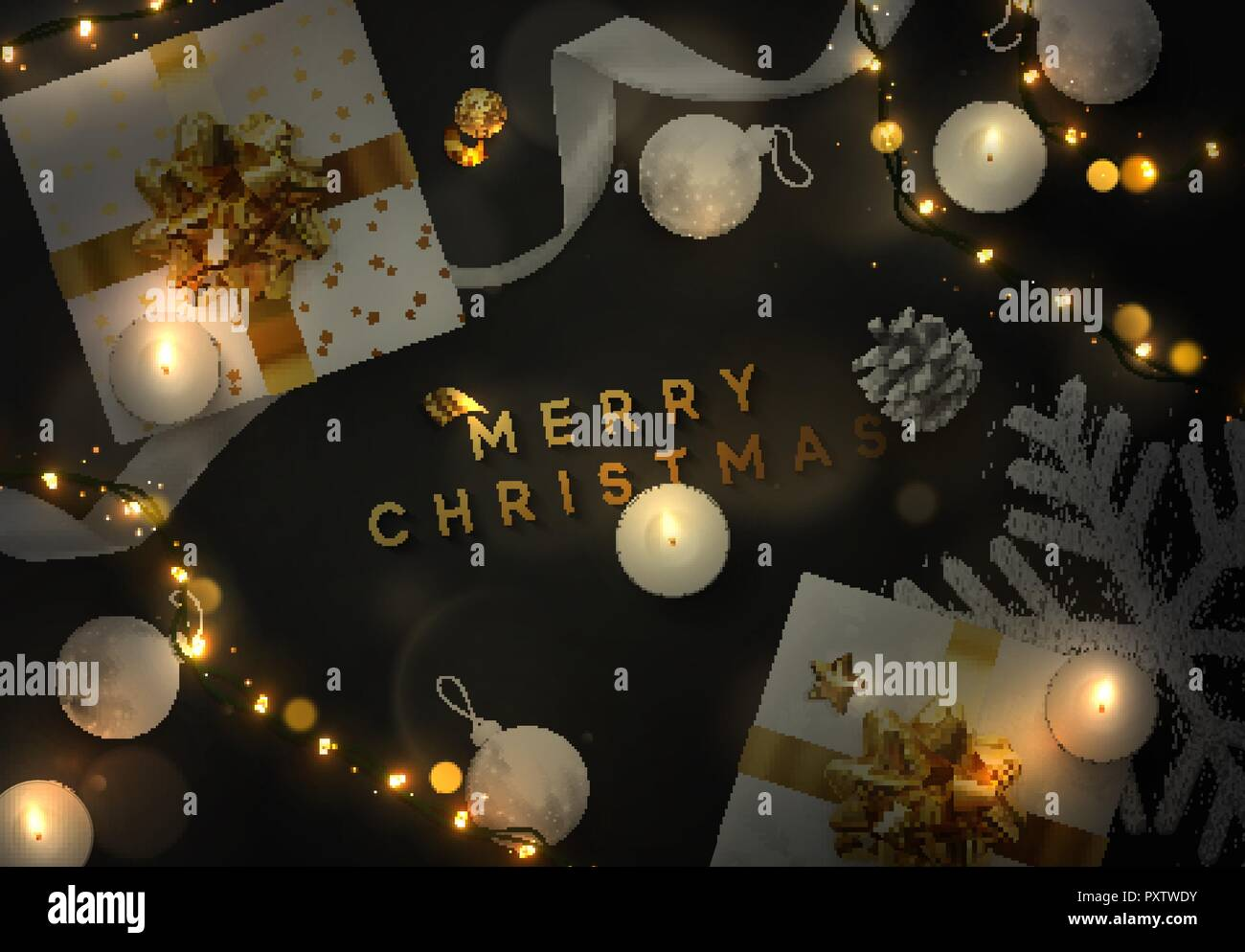 Christmas Vector Background Creative Design Greeting Card