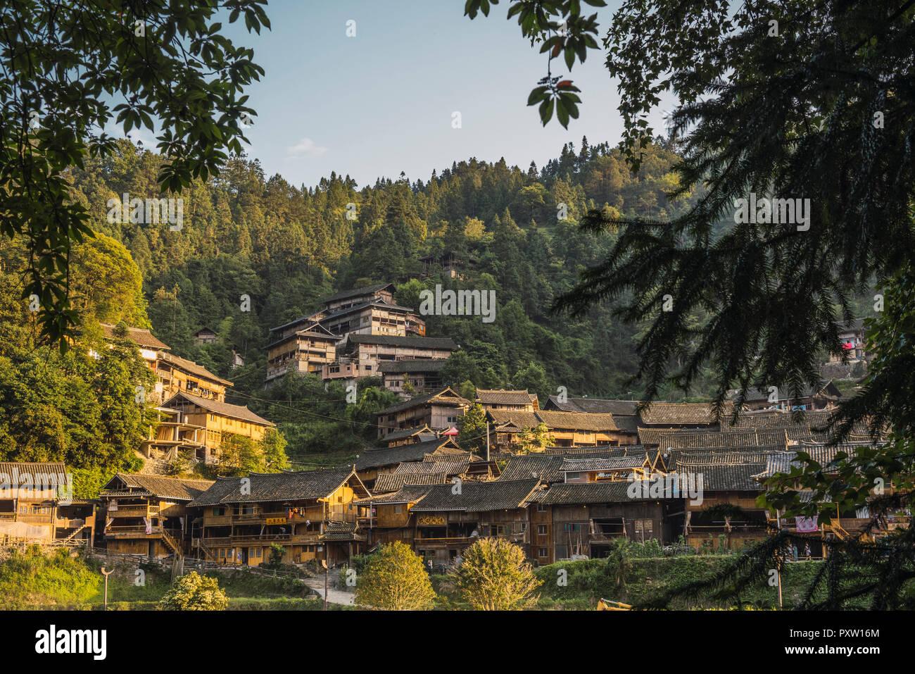China, Guizhou, Miao settlement Stock Photo