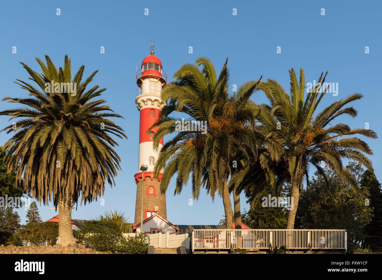 Africa, Namibia, Swakopmund, Swakopmund Lighthouse - Stock Image