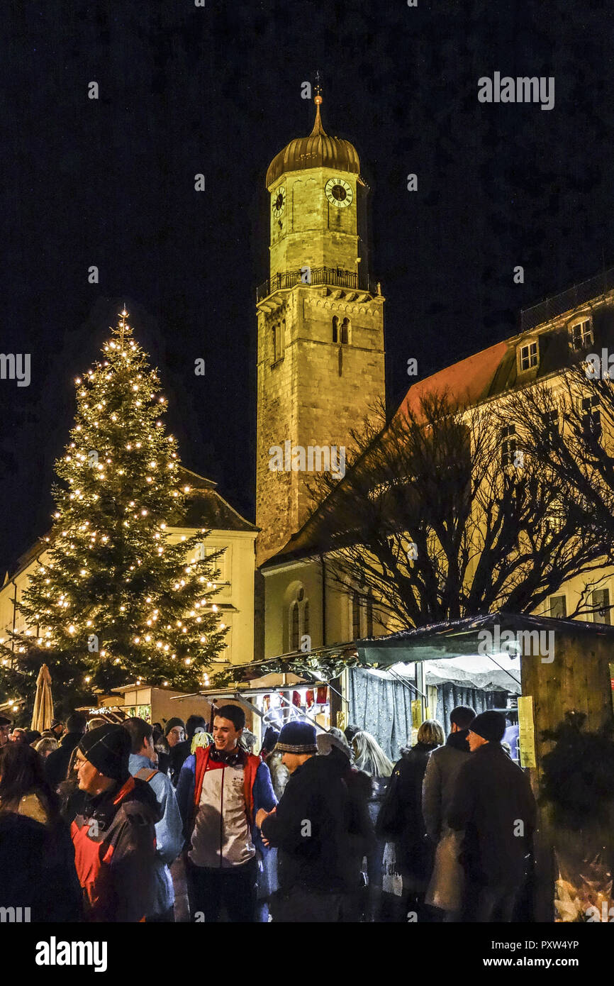 Deutschland Weihnachtsmarkt.Weihnachtsmarkt In Weilheim Oberbayern Deutschland Christmas