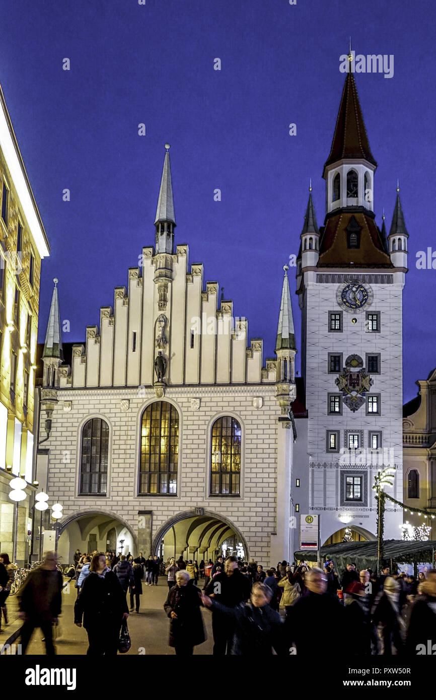 Weihnachtsmarkt I.Christkindlmarkt Weihnachtsmarkt Am Münchner Marienplatz Christmas