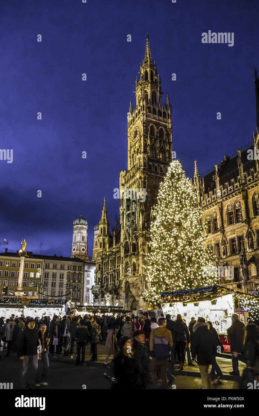 Marienplatz Weihnachtsmarkt.Christkindlmarkt Weihnachtsmarkt Am Münchner Marienplatz Christmas