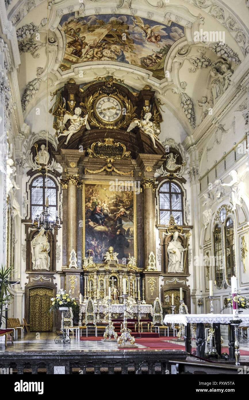 Kloster Benediktbeuern, Oberbayern, Bayern, Deutschland - Stock Image