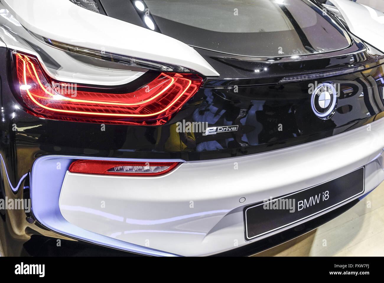 Moderner Luxus Sportwagen mit Plug-in-Hybridsystem, BMW i8 (www.allover.cc/TPH) - Stock Image