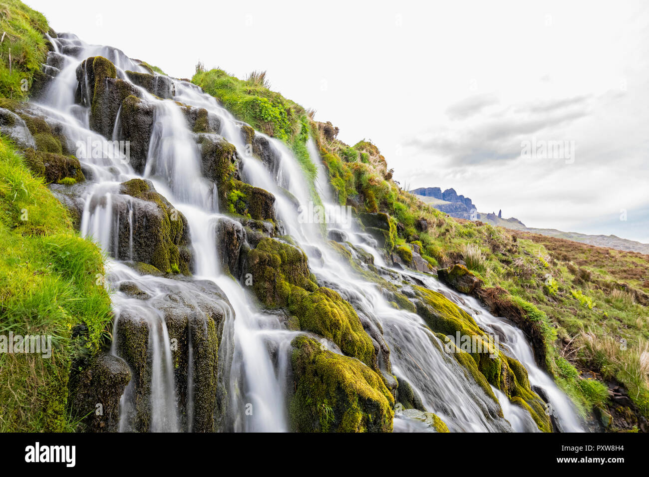 UK, Scotland, Inner Hebrides, Isle of Skye, Brides Veil Waterfall - Stock Image