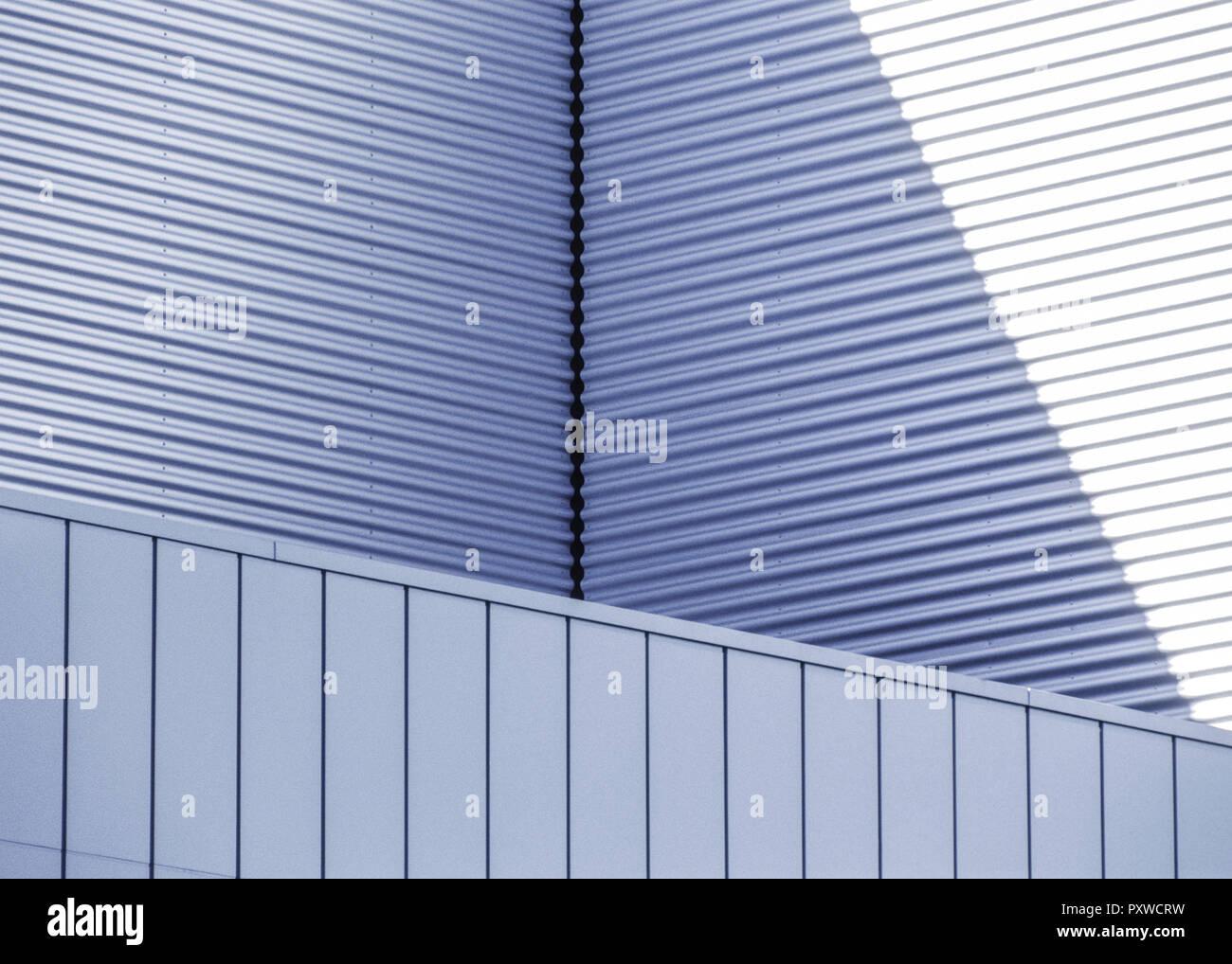 Architekturdetail, Metallverkleidungen Stock Photo