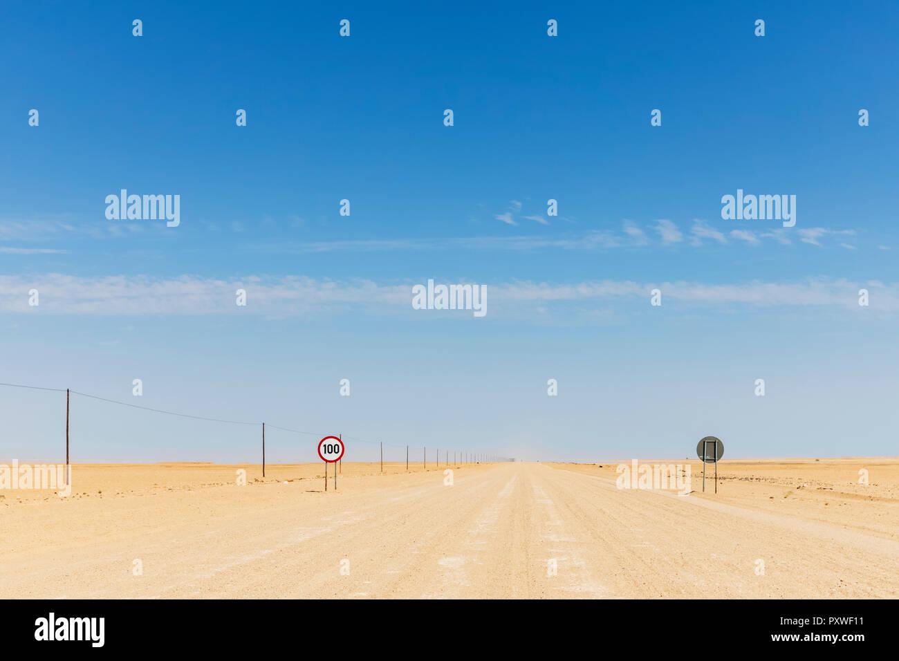 Africa, Namibia, Erongo Region, sand track C 35 - Stock Image