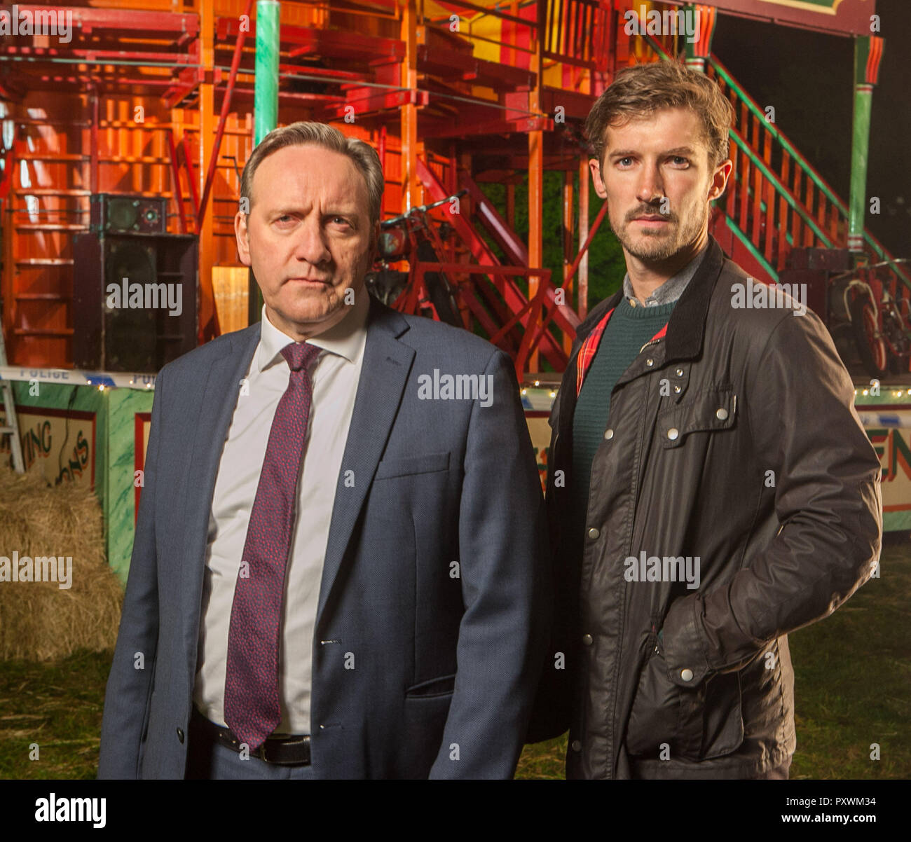 Gwilym Lee, actor playing the role of  DS Charlie Nelson in Midsomer Murders - Stock Image