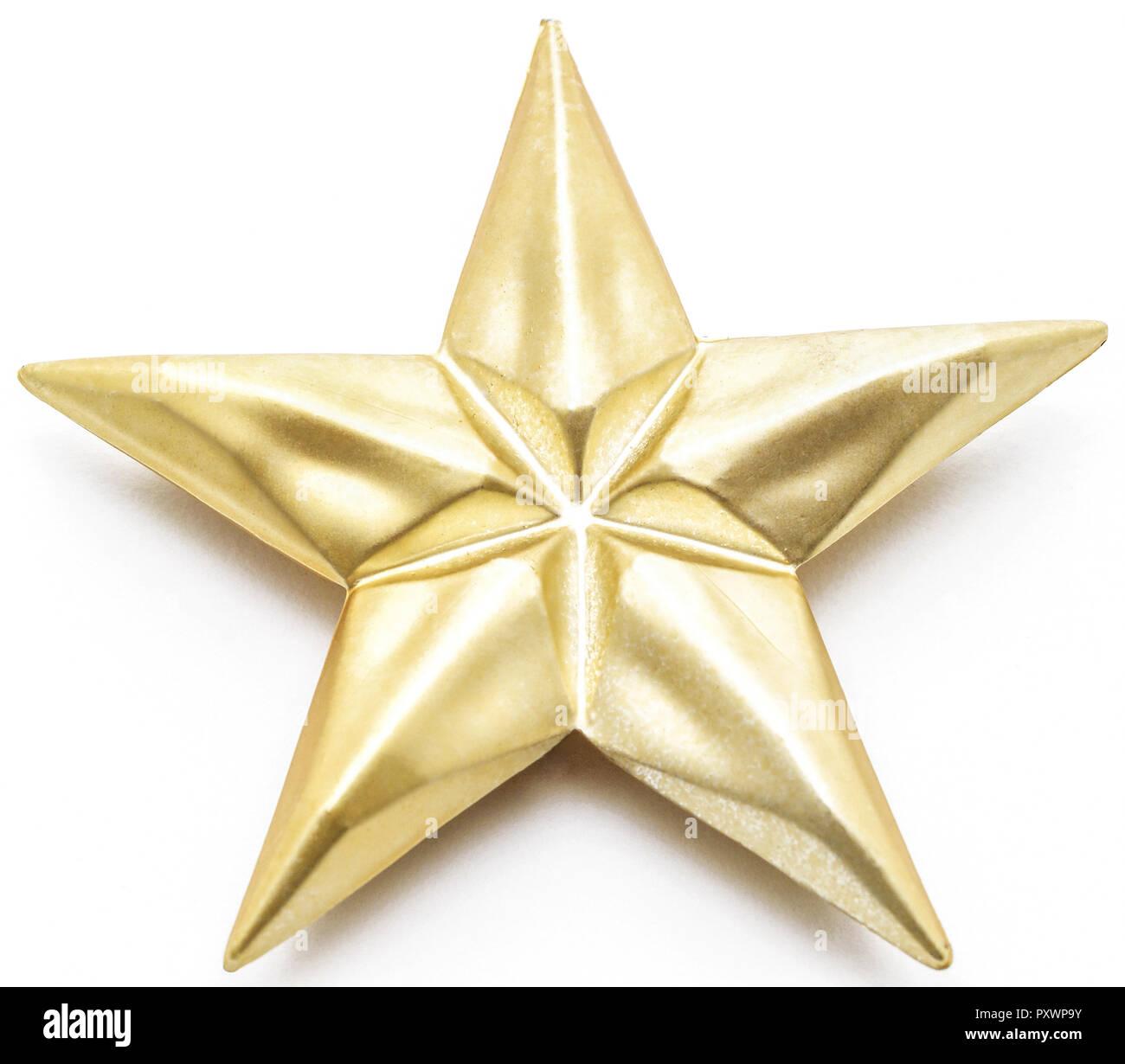 Goldener Stern Christbaumschmuck Stock Photo 223071799 Alamy