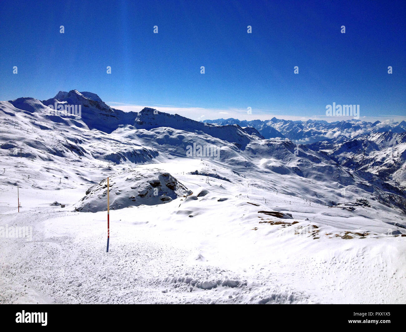 Cervinia, landscape - Stock Image