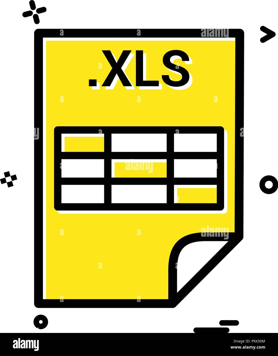 XLS application download file files format icon vector design Stock
