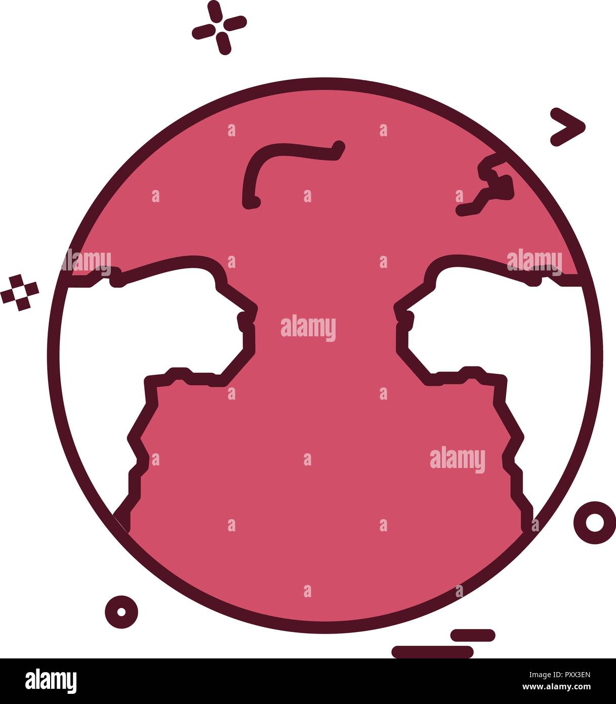 World map icon design vector Stock Vector Art & Illustration