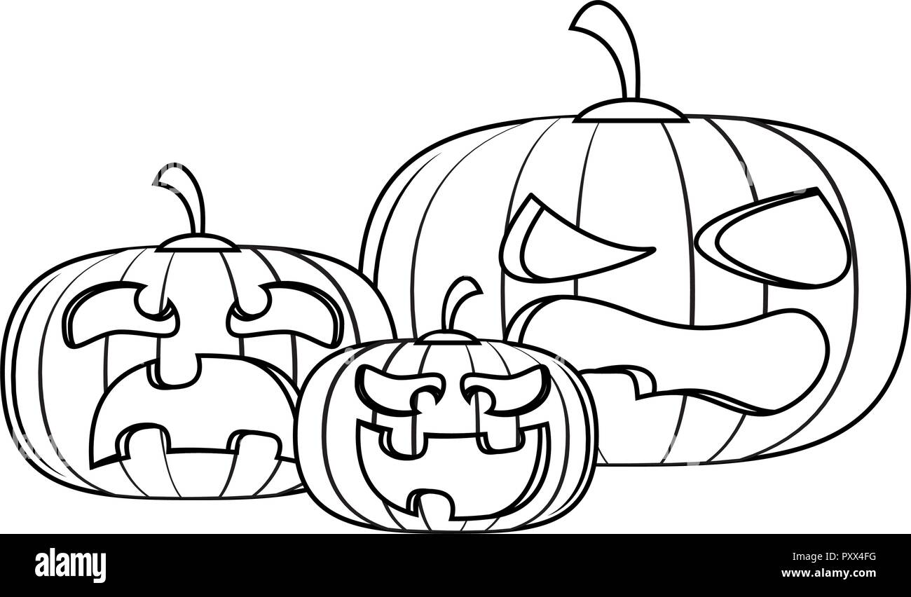 Halloween scary cartoon - Stock Vector