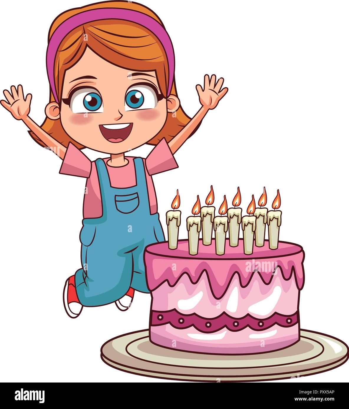 Girl Birthday Party Stock Vector Image Art Alamy