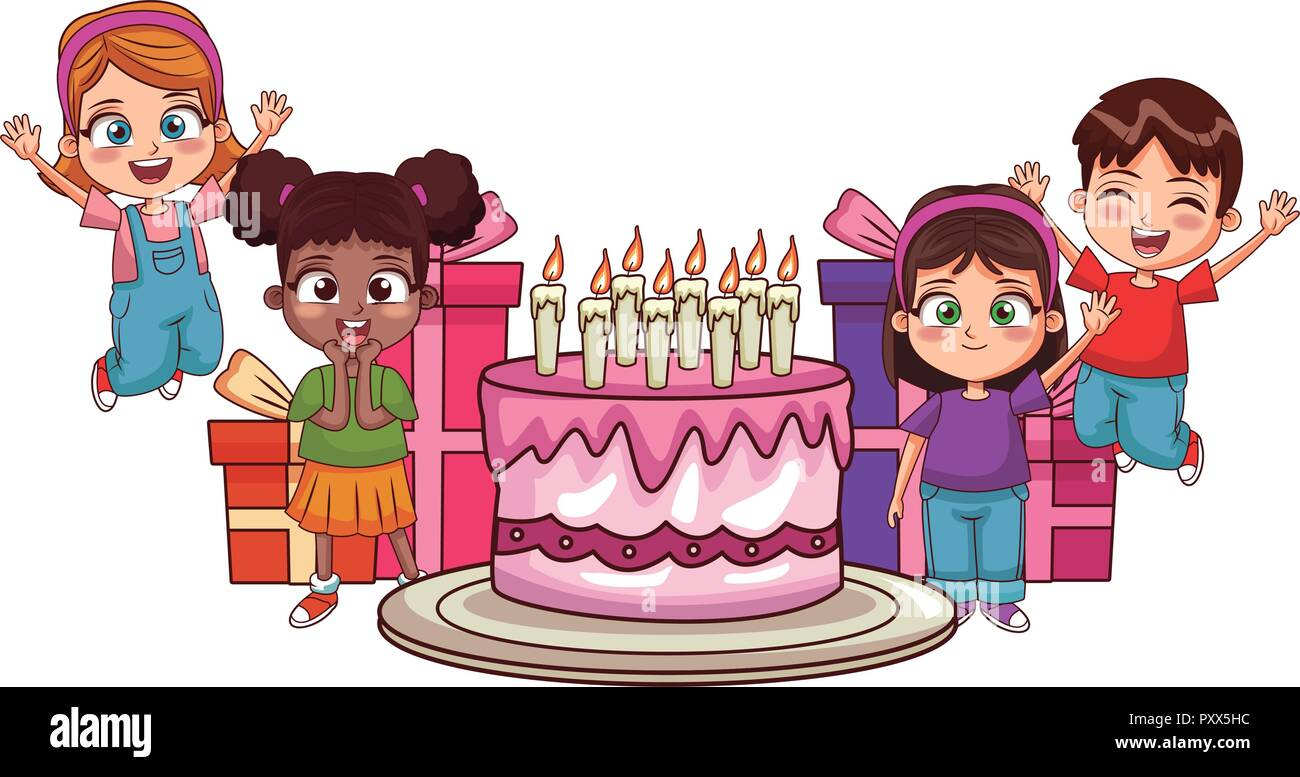 Kids Birthday Party Stock Vector Image Art Alamy