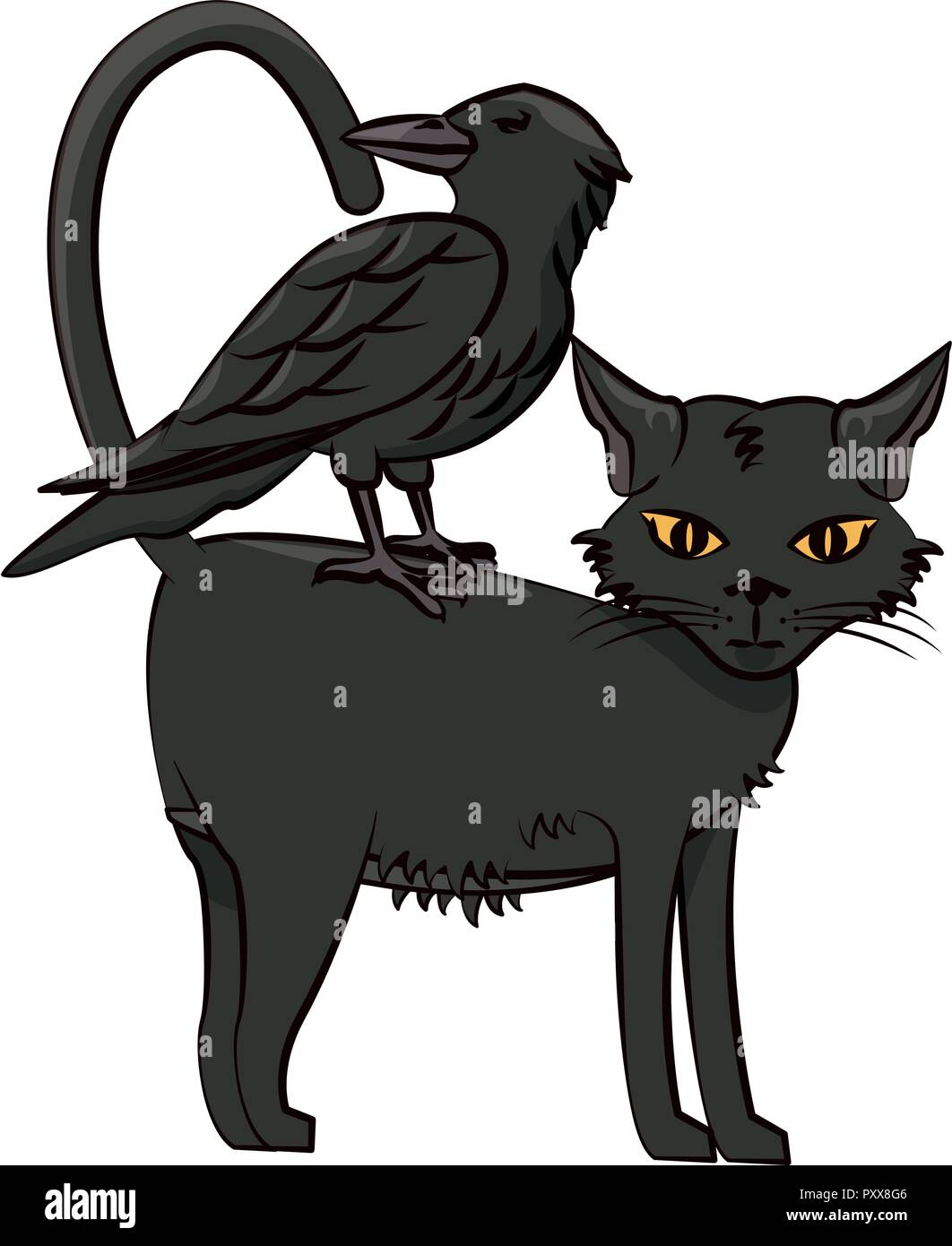 Halloween Scary Cartoons Stock Vector Image Art Alamy