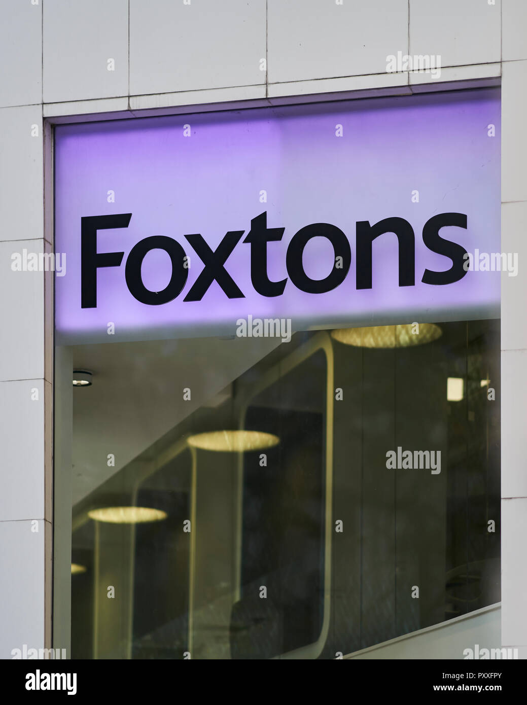 Foxtons Estate Agent - Sign - Stock Image