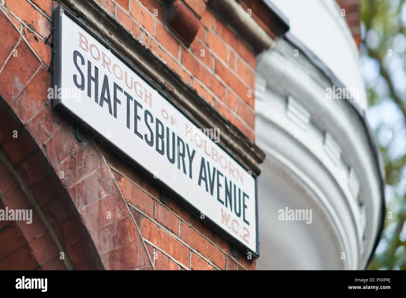 Shaftesbury Avenue Sign - Stock Image