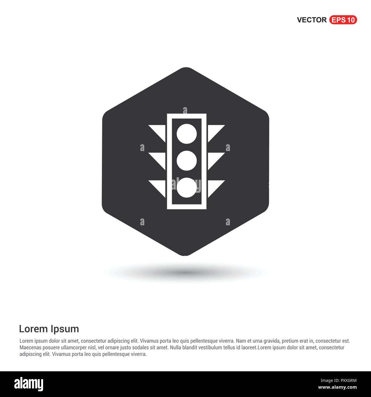 traffic lights icon hexa white background icon template free