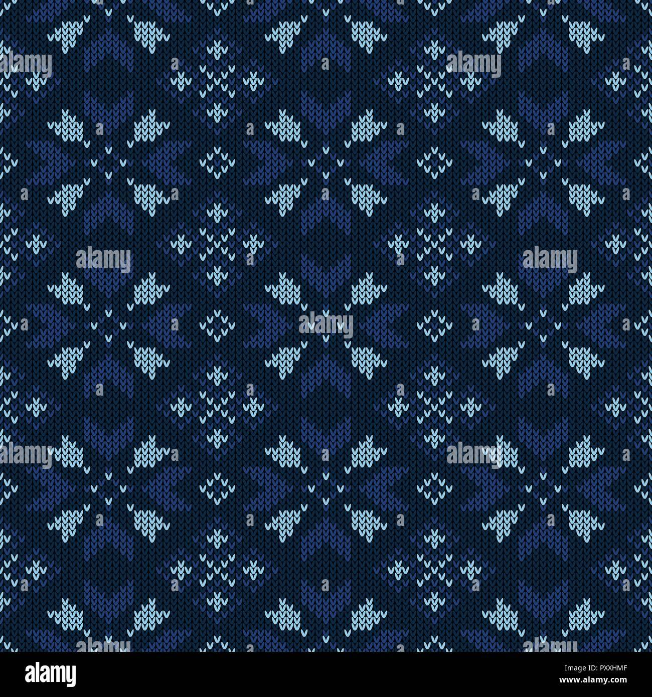 Christmas Knitted Pattern Winter Geometric Seamless Pattern Design