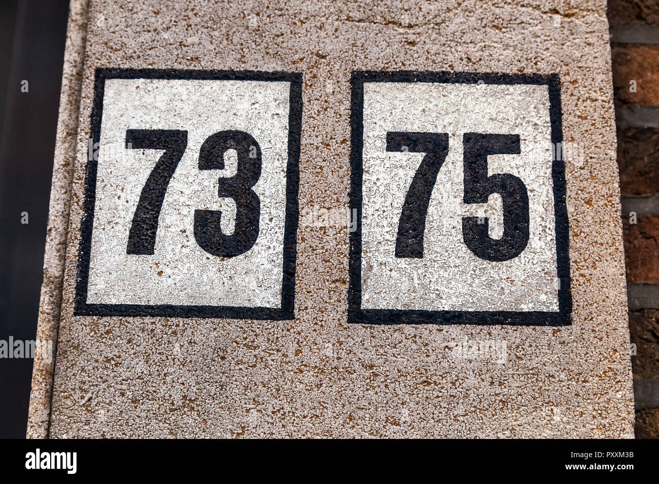 House numbers from France, Belgium, Sweden, Denmark, Finland and