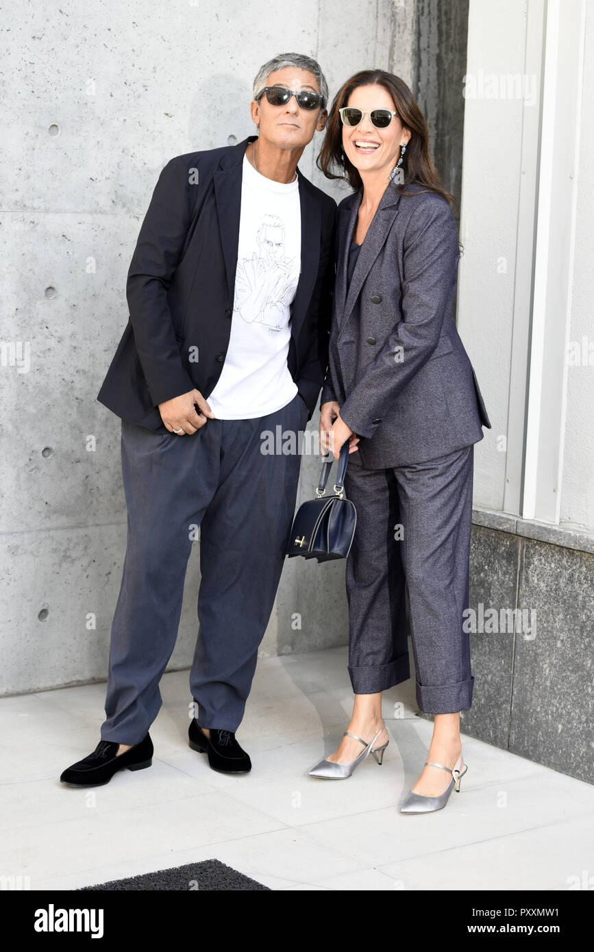 f0763eb7665 Milan Fashion Week Spring Summer 2019 - Giorgio Armani - Arrivals  Featuring  Fiorello