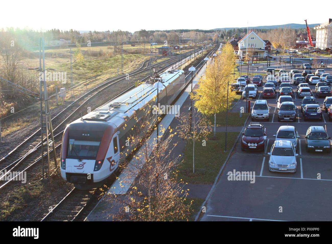 Leksand Station. - Stock Image