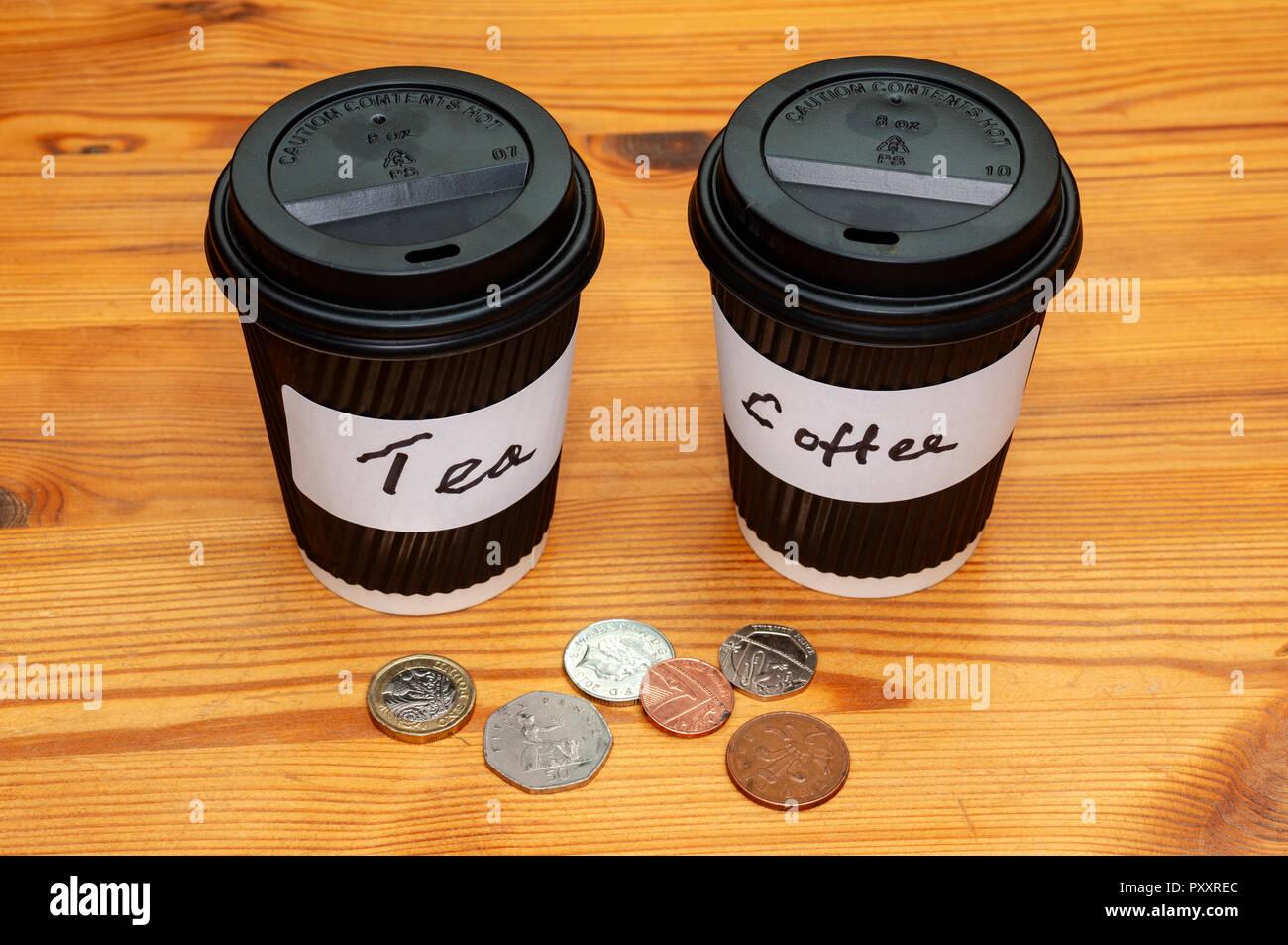 Take away tea and coffee - Stock Image