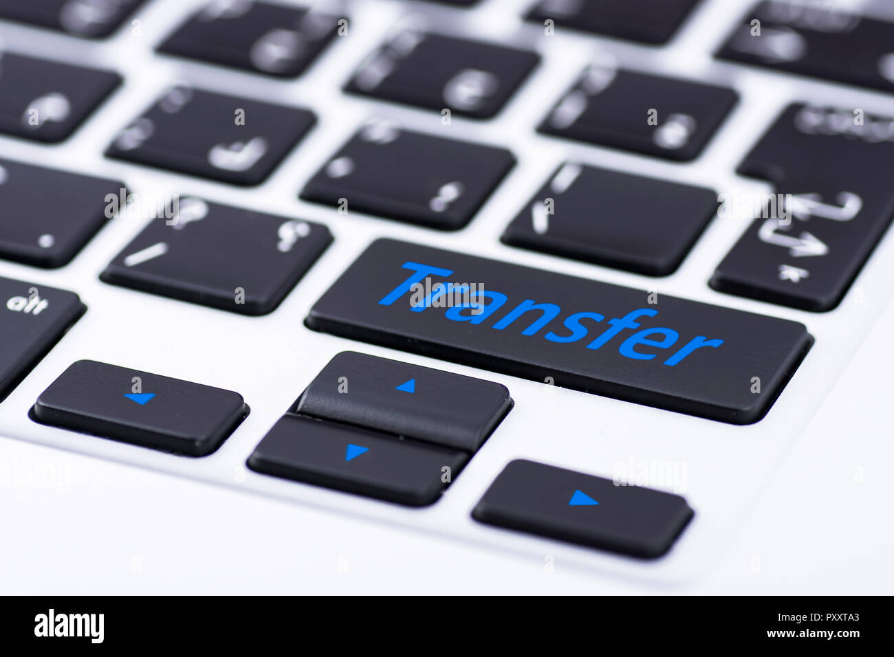 Transfer on keyboard button Stock Photo