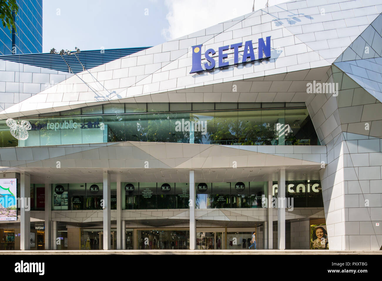 Glass Building At Orchard Road Stock Photos Amp Glass