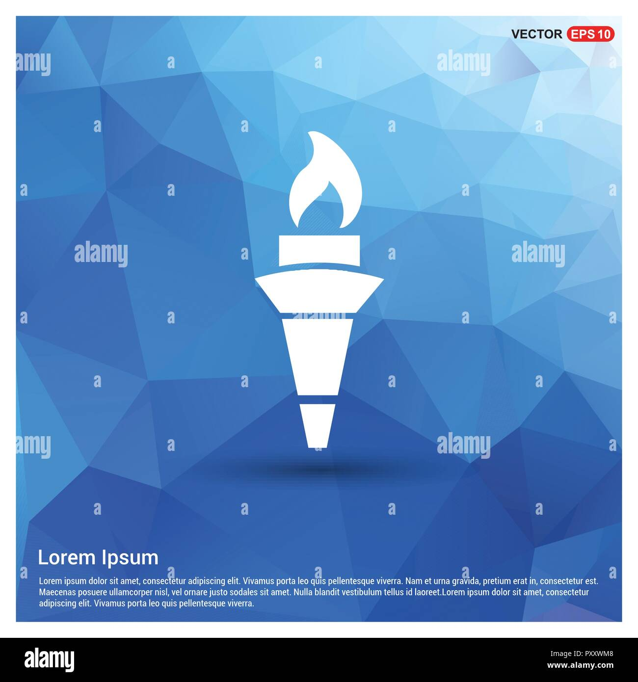 Olympic Torch Icon - Stock Vector