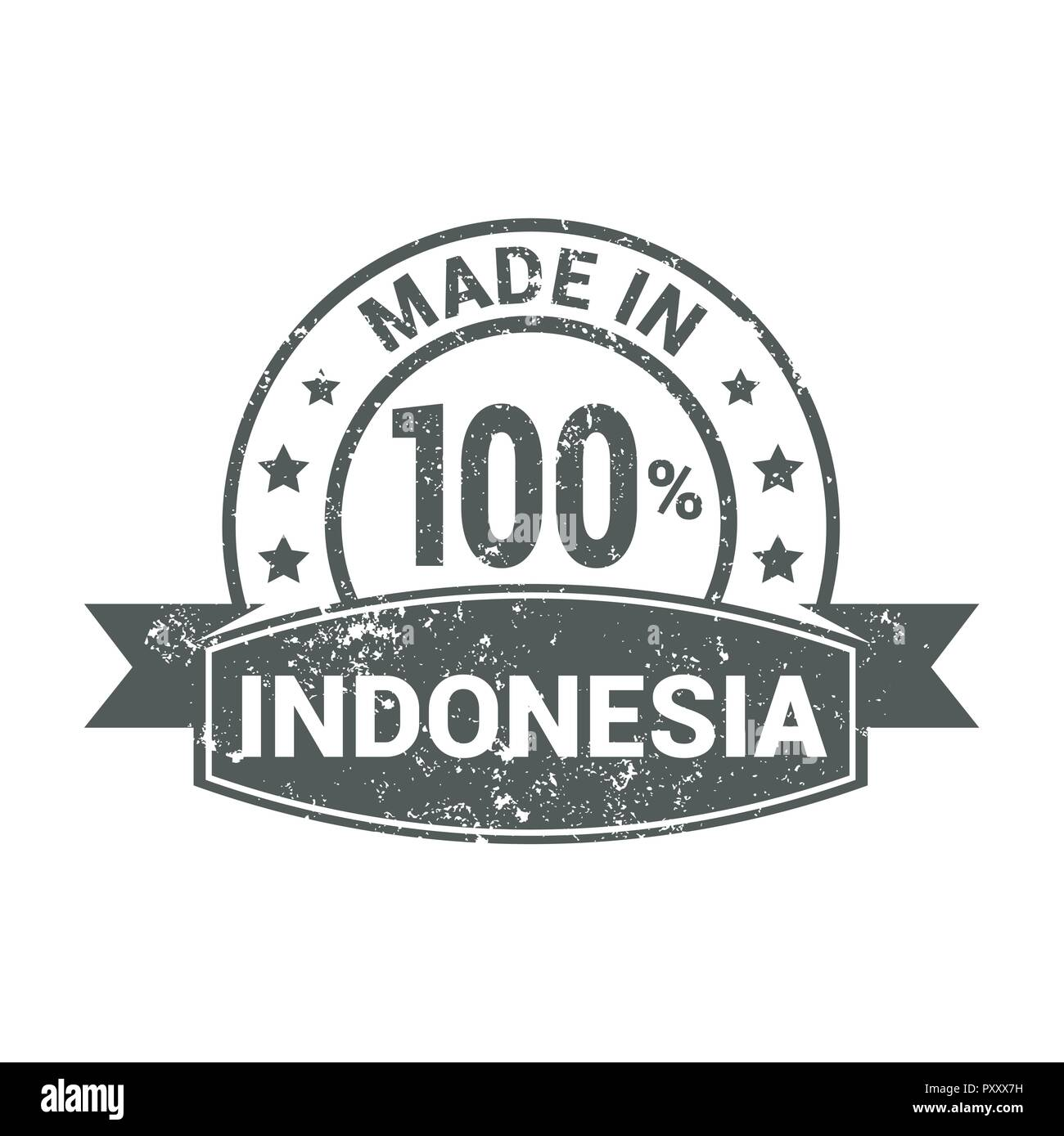Indonesia Vector Vectors Stock Photos 100 Made In Stamp Design Image