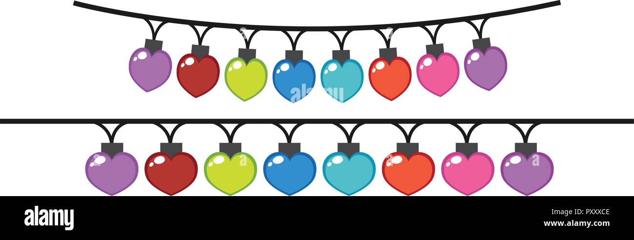 Decorating lights in different colors illustration - Stock Vector