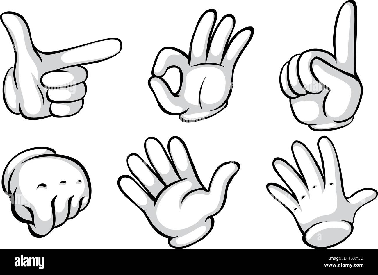 Hand gesture on white background illustration - Stock Vector
