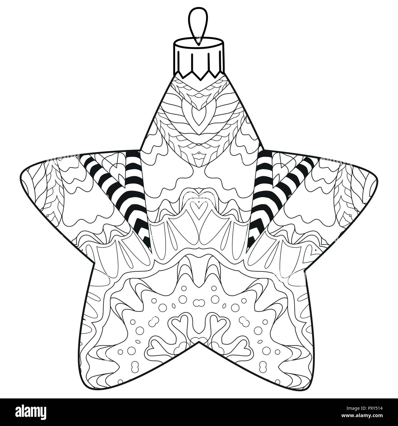 - Christmas Decorations Zentangle Styled With Clean Lines For