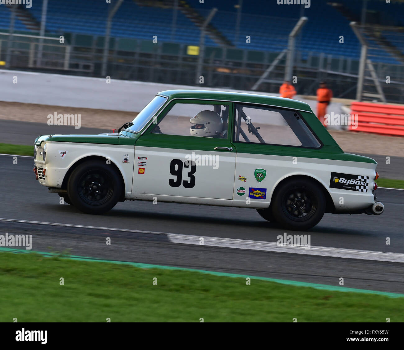 Stuart Kerr, Singer Chamois, HSCC, HRSR, Historic Touring Cars, Silverstone Finals Historic Race Meeting, Silverstone, October 2018, cars, Classic Rac - Stock Image